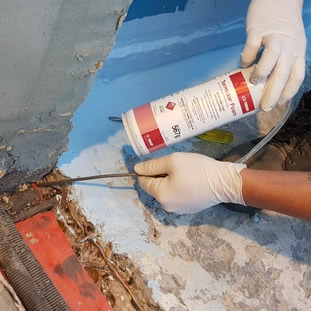 Termite treatment Gold Coast application